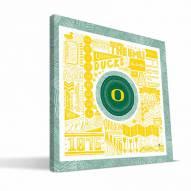 "Oregon Ducks 16"" x 16"" Pictograph Canvas Print"
