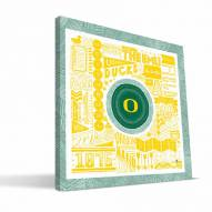 "Oregon Ducks 16"" x 16"" Pictograph Canvas Print"