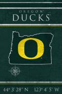 "Oregon Ducks 17"" x 26"" Coordinates Sign"