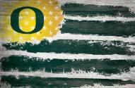 "Oregon Ducks 17"" x 26"" Flag Sign"