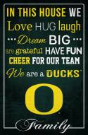 """Oregon Ducks 17"""" x 26"""" In This House Sign"""