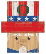 "Oregon Ducks 19"" x 16"" Patriotic Head"