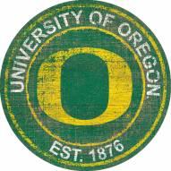 "Oregon Ducks 24"" Heritage Logo Round Sign"