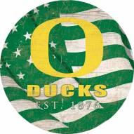"Oregon Ducks 24"" Team Color Flag Circle Sign"