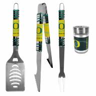 Oregon Ducks 3 Piece Tailgater BBQ Set and Season Shaker
