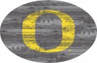 "Oregon Ducks 46"" Distressed Wood Oval Sign"