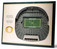 Oregon Ducks 5-Layer StadiumViews 3D Wall Art
