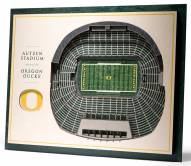 Oregon Ducks 5-Layer StadiumViews 3D Wall Art