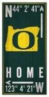 "Oregon Ducks 6"" x 12"" Coordinates Sign"