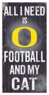 "Oregon Ducks 6"" x 12"" Football & My Cat Sign"