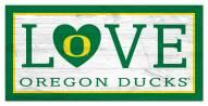 "Oregon Ducks 6"" x 12"" Love Sign"