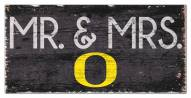 "Oregon Ducks 6"" x 12"" Mr. & Mrs. Sign"
