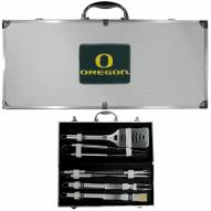 Oregon Ducks 8 Piece Stainless Steel BBQ Set w/Metal Case