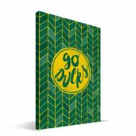 "Oregon Ducks 8"" x 12"" Geometric Canvas Print"