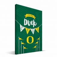 "Oregon Ducks 8"" x 12"" Little Man Canvas Print"