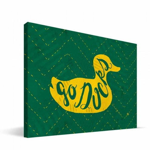 """Oregon Ducks 8"""" x 12"""" Mascot Canvas Print"""