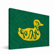 "Oregon Ducks 8"" x 12"" Mascot Canvas Print"