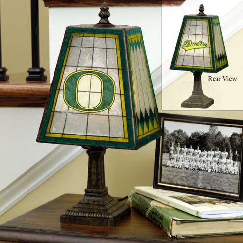 Oregon Ducks Art Glass Table Lamp