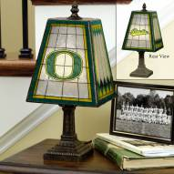 Oregon Ducks Art Glass Table Lamp