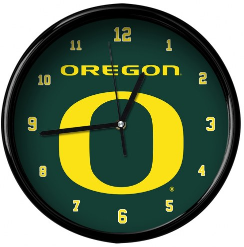 Oregon Ducks Black Rim Clock