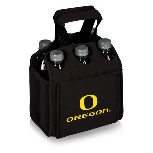 Oregon Ducks Black Six Pack Cooler Tote