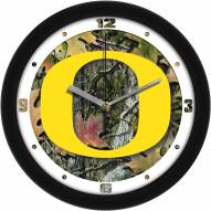 Oregon Ducks Camo Wall Clock