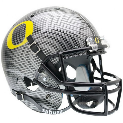 Oregon Ducks Carbon Fiber Schutt XP Collectible Full Size Football Helmet