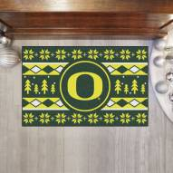 Oregon Ducks Christmas Sweater Starter Rug