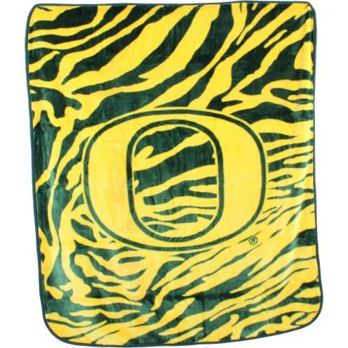 Oregon Ducks Raschel Throw Blanket