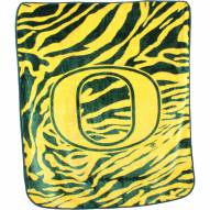 Oregon Ducks Raschel Throw Blanket