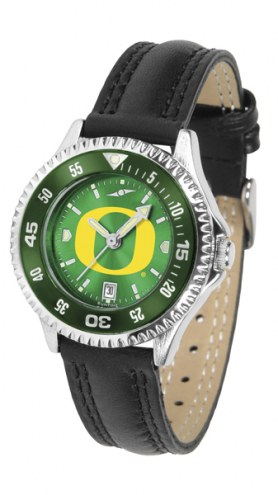 Oregon Ducks Competitor AnoChrome Women's Watch - Color Bezel