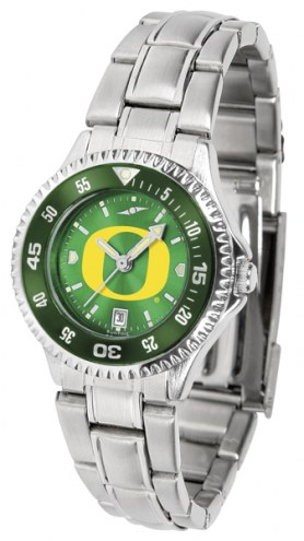 Oregon Ducks Competitor Steel AnoChrome Women's Watch - Color Bezel