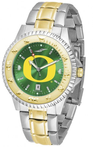 Oregon Ducks Competitor Two-Tone AnoChrome Men's Watch