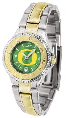 Oregon Ducks Competitor Two-Tone AnoChrome Women's Watch