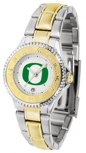 Oregon Ducks Competitor Two-Tone Women's Watch