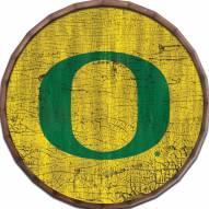 """Oregon Ducks Cracked Color 24"""" Barrel Top"""