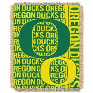 Oregon Ducks Double Play Woven Throw Blanket