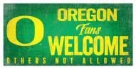 Oregon Ducks Fans Welcome Sign