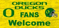 Oregon Ducks Fans Welcome Wood Sign
