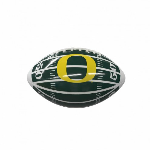 Oregon Ducks Field Mini Glossy Football