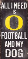 Oregon Ducks Football & Dog Wood Sign