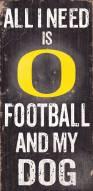 Oregon Ducks Football & Dog Wood Sign