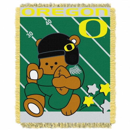 Oregon Ducks Fullback Baby Blanket