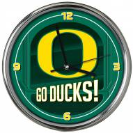 Oregon Ducks Go Team Chrome Clock