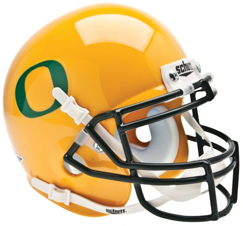 Oregon Ducks Gold Schutt Mini Football Helmet