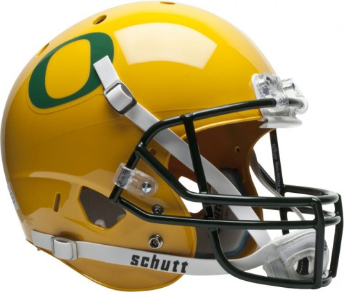 Oregon Ducks Gold Schutt XP Collectible Full Size Football Helmet