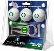 Oregon Ducks Golf Ball Gift Pack with Hat Trick Divot Tool