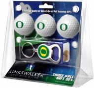 Oregon Ducks Golf Ball Gift Pack with Key Chain