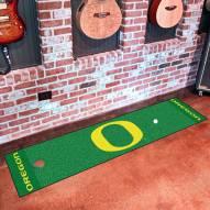 Oregon Ducks Golf Putting Green Mat