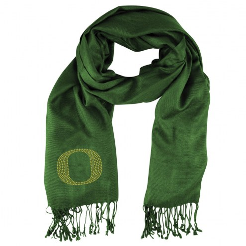Oregon Ducks Green Pashi Fan Scarf